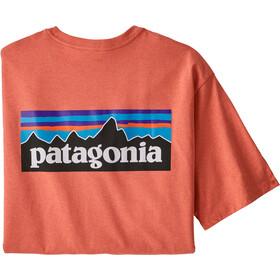 Patagonia P-6 Logo Responsibili-Tee maglietta Uomo, rosso